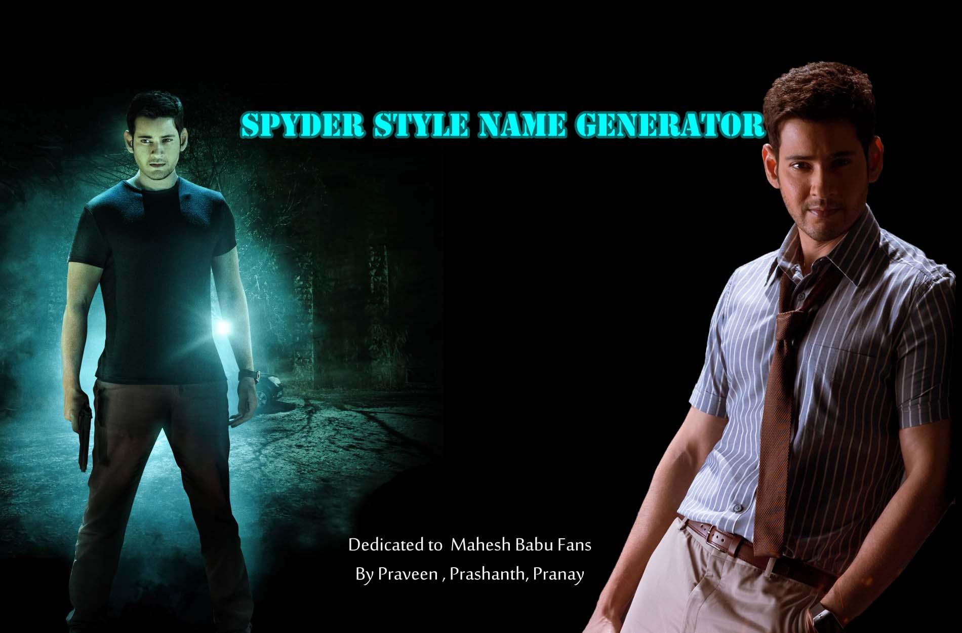 SPYDER Style Name Generator